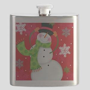 Happy Snowman Flask