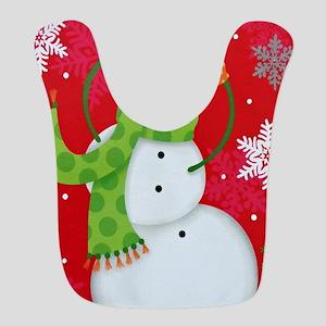 Happy Snowman Bib