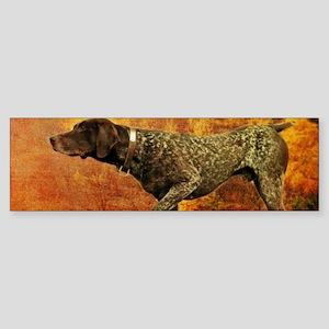 autumn hunting pointer dog Bumper Sticker