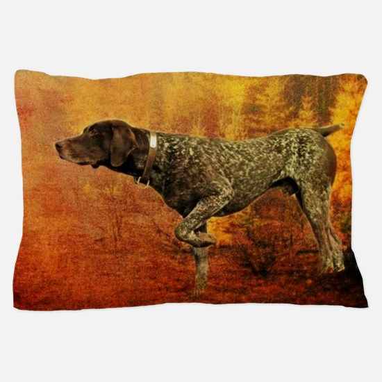 autumn hunting pointer dog Pillow Case