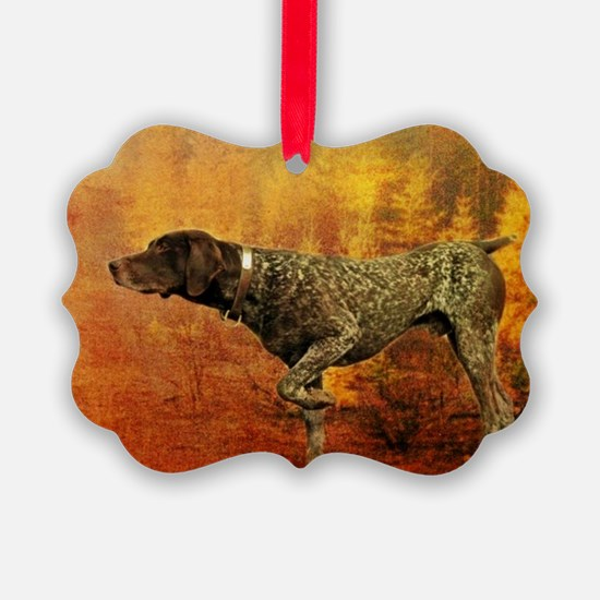 autumn hunting pointer dog Ornament