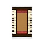 Piano Keys Frame Border music for 5x7 chocolate Ar