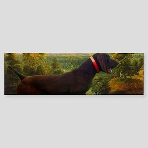 vintage hunting pointer dog Bumper Sticker