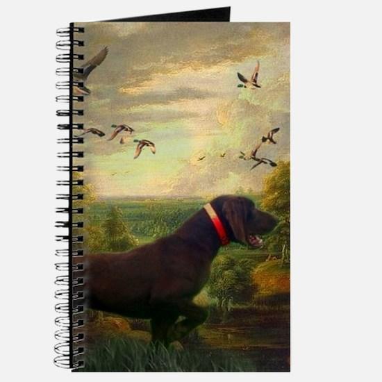 vintage hunting pointer dog Journal