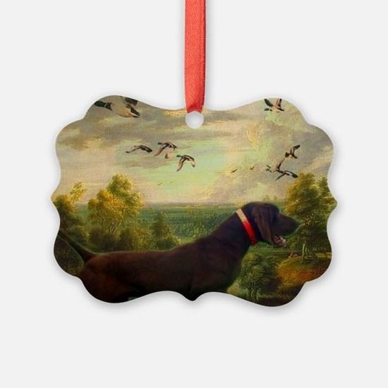 vintage hunting pointer dog Ornament