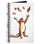 Squirrel Throwing Nuts And Leaves In The Air Journ