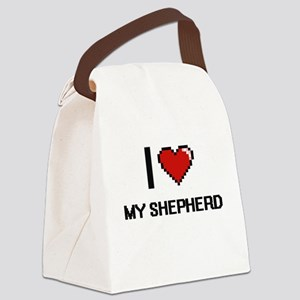 I Love My Shepherd Canvas Lunch Bag