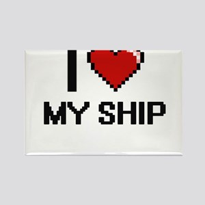 I Love My Ship Magnets