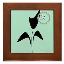 Black Tulip Mint Framed Tile
