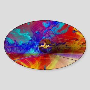 Vibrant Travel Sticker (Oval)