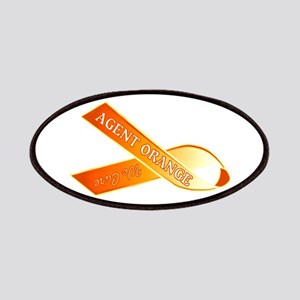 We Care Orange Ribbon Patch