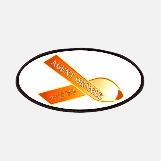 We Care Orange Ribbon Patch