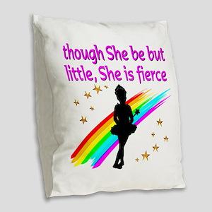 DANCER DREAMS Burlap Throw Pillow