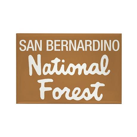 San Bernardino National Forest (Sign) Rectangle Ma