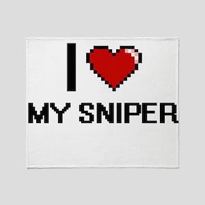 I love My Sniper Throw Blanket