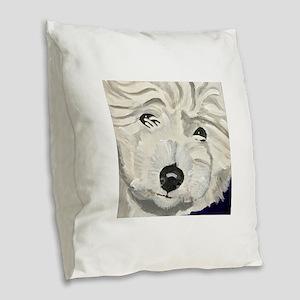 RUFF Burlap Throw Pillow