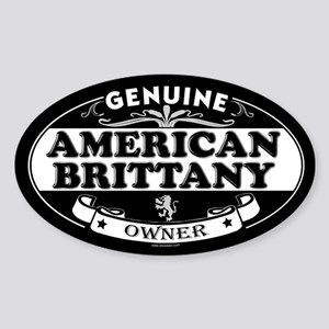 AMERICAN BRITTANY Oval Sticker
