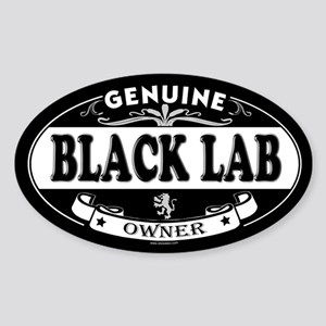 BLACK LAB Oval Sticker