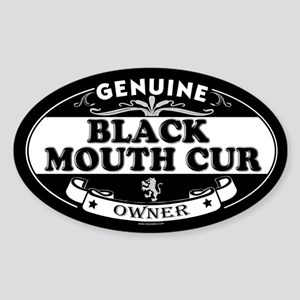 BLACK MOUTH CUR Oval Sticker