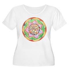 Orange Mandala Plus Size T-Shirt