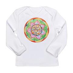 Orange Mandala Long Sleeve T-Shirt
