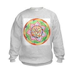 Orange Mandala Kids Sweatshirt