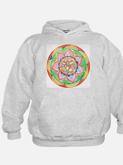 Orange Mandala Hoodie