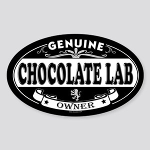 CHOCOLATE LAB Oval Sticker