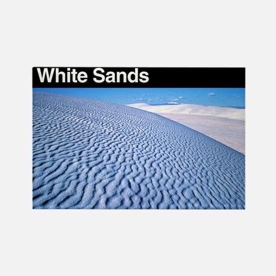White Sands NM Rectangle Magnet