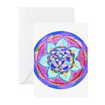 Blue Mandala Greeting Cards