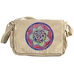 Blue Mandala Messenger Bag