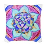 Blue Mandala Woven Throw Pillow