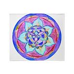 Blue Mandala Throw Blanket