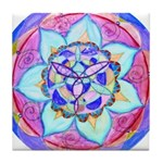 Blue Mandala Tile Coaster