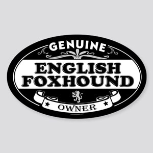ENGLISH FOXHOUND Oval Sticker