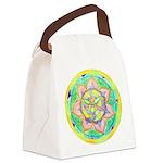 Golden Mandala Canvas Lunch Bag