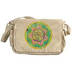 Golden Mandala Messenger Bag