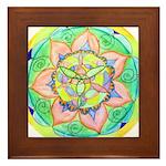 Golden Mandala Framed Tile