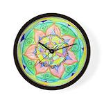 Golden Mandala Wall Clock