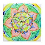 Golden Mandala Tile Coaster