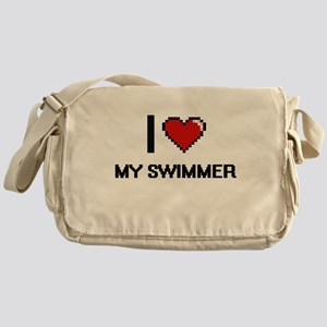 I love My Swimmer Messenger Bag