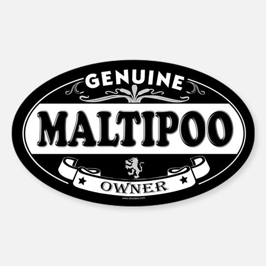 MALTIPOO Oval Decal