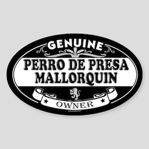 PERRO DE PRESA MALLORQUIN Oval Sticker