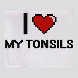 I love My Tonsils Throw Blanket
