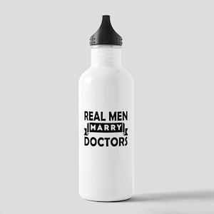 Real Men Marry Doctors Water Bottle