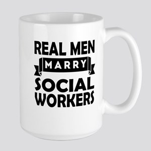 Real Men Marry Social Workers Mugs