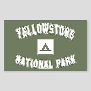 Yellowstone National Park Rectangle Sticker