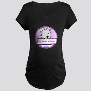 KiniArt Westie Bestie Maternity Dark T-Shirt