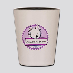 KiniArt Westie Bestie Shot Glass