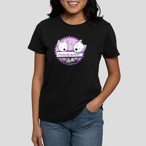 KiniArt Westies Besties Women's Dark T-Shirt